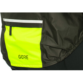 GORE WEAR C5 Gore-Tex Shakedry 1985 Vis Jacket Herrer, black/neon yellow